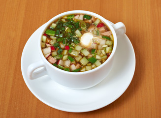 cold soup, okroshka