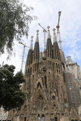 La Sagrada Familia, designed by Antoni Gaudi, in Barcelona.