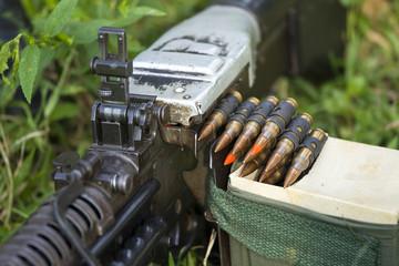 Soldier with the machine gun