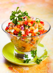 salsa with melon