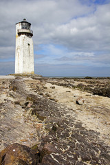 Southerness Lighthouse and Rock Formation Portrait