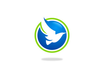 flying bird vector logo