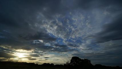 夕暮れの空 微動撮影