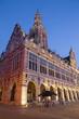 Leuven - University library in evening dusk