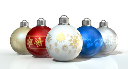 Colorful Ornate Christmas Baubles