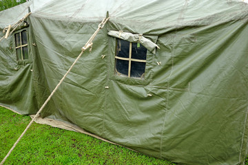 Large military tent