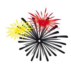 Feuerwerk - Schwarz, rot, gold