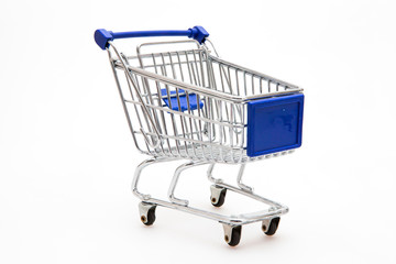 Shopping Cart with white background