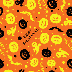 Happy halloween card design vector