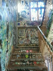 Draw street art in stairs
