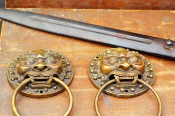 Antique doorknob lion - for sale.