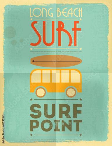 Fototapeta surfing poster