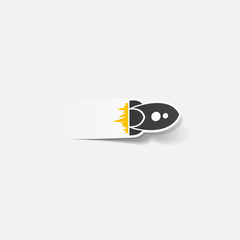 realistic design element: rocket