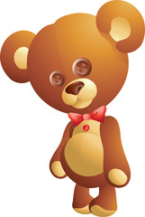 Cute  teddy bear with ribbon
