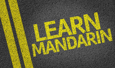 Learn Mandarin written on the road