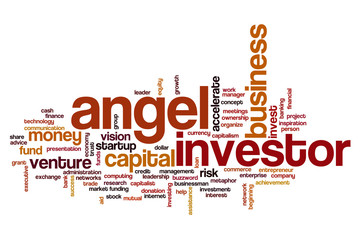 Angel investor word cloud