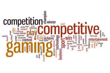 Competitive gaming word cloud