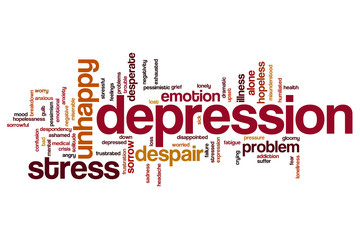 Depression word cloud