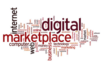 Digital marketplace word cloud
