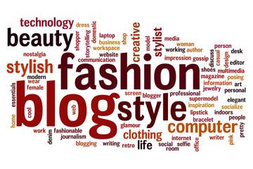 Fashion blog word cloud