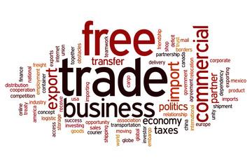 Free trade word cloud