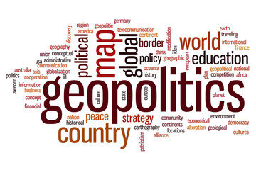 Geopolitics word cloud