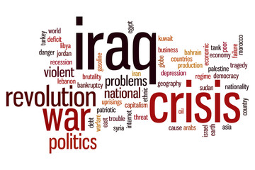Iraq crisis word cloud