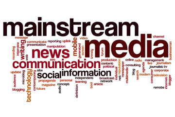 Mainstream media word cloud