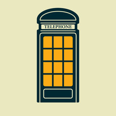 Vector telephone box icon. Eps10