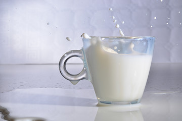 milk splash in the cup