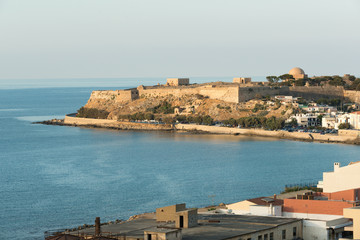 Venetian fortress and Rethymnon panorama, Crete
