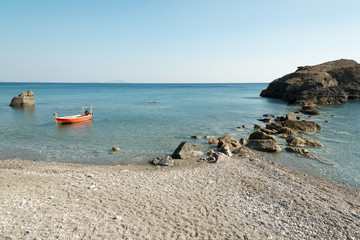 Beautiful empty beach near Plakias, Crete, Greece
