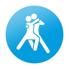 Etiqueta redonda bailarines