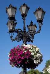 street lantern in historical center of Lvov, Ukraine