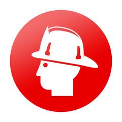 Etiqueta redonda bombero