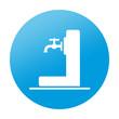 Etiqueta redonda fuente de agua potable