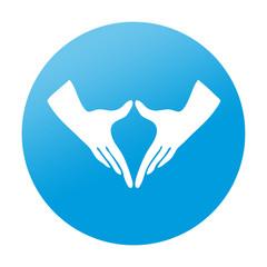 Etiqueta redonda simbolo feminismo