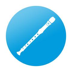 Etiqueta redonda flauta