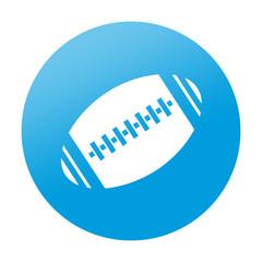 Etiqueta redonda balon de rugby