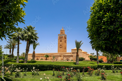 Fotobehang Marokko La Koutoubia vu des jardins 2