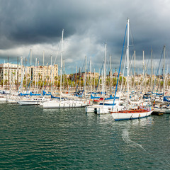 Marina Port Vell in Barcelona