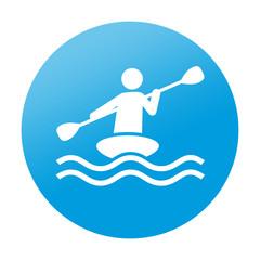 Etiqueta redonda kayak