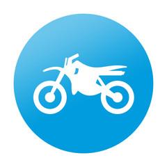 Etiqueta redonda motocross