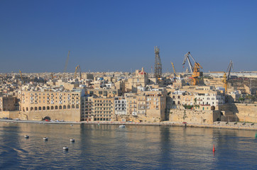 City Embankment. Senglea, Valletta, Malta
