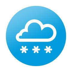 Etiqueta redonda nieve