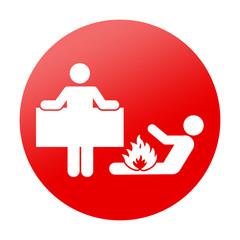 Etiqueta redonda manta antiincendios