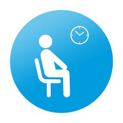 Etiqueta redonda sala de espera