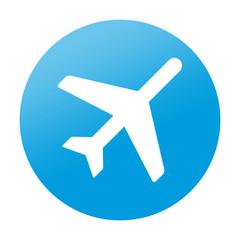 Etiqueta redonda avion