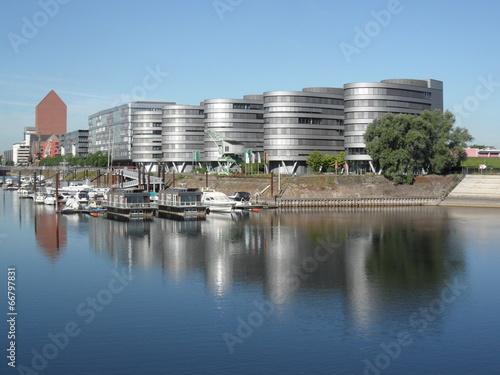 Leinwanddruck Bild Duisburg - Innenhafen