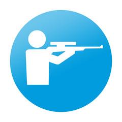 Etiqueta redonda campo de tiro